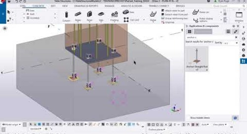 Tekla Structures Anchor Rods for Precasters