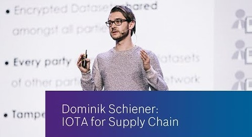 Insights from the expert: IOTA for Supply Chain
