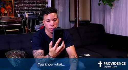 Recording Artist, Demrick, tries Providence Express Care Virtual