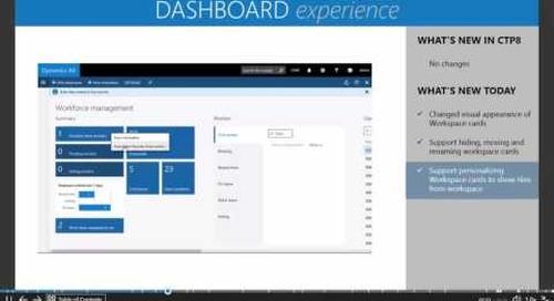 Microsoft Dynamics AX7 -The New Dashboard Experience