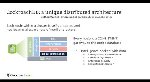 The architecture of a Distributed SQL Database in 2020 | Modern Data Architecture
