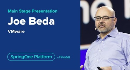 Joe Beda at SpringOne Platform 2019