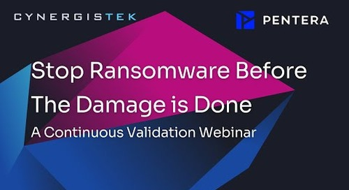 Stop Ransomware Before The Damage is Done- A Continuous Validation Webinar