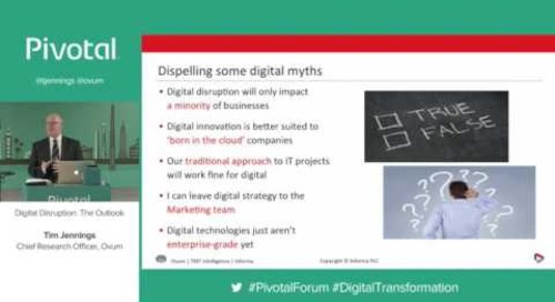 Digital Disruption: The Outlook