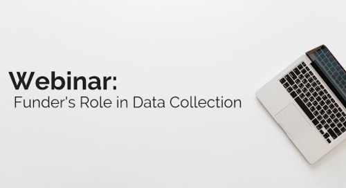 The Funder's Role in Collecting, Tracking, and Using Data