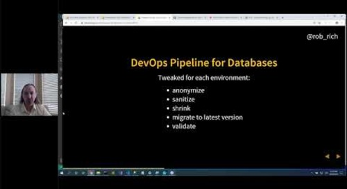 Database DevOps with Containers