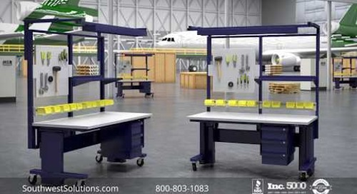 Modular Ergonomic Adjustable Technical Workstation Desks