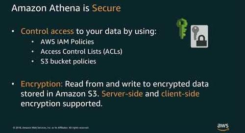 JOIN 2018 – Data Lake Analytics: Using AWS Redshift Athena and S3