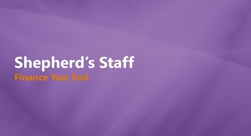 Shepherd's Staff: Finance Year-End Process