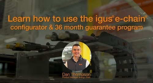 Learn how to use the igus® e-chain® Configurator