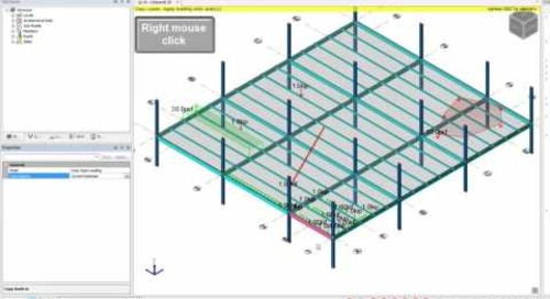 Modifying and Copying Loads in Tekla Structural Designer