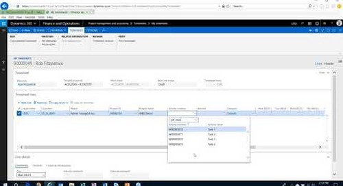 Q&A Series: How Do I Charge Time Against a Project Using the WBS in D365 for Finance and Operations