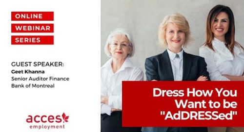 """Career Skills Workshop - DRESS How You Want to be """"AdDRESSed"""""""