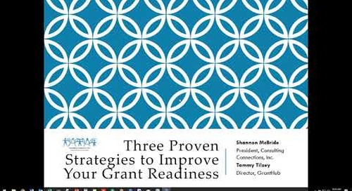3 Proven Strategies to Improve your Grant Readiness