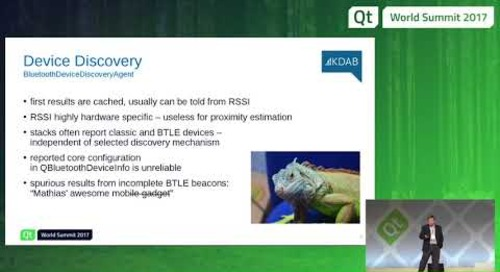 QtWS17 - QtBluetooth on mobile devices - A dragon guide, Mathias Hasselmann, KDAB
