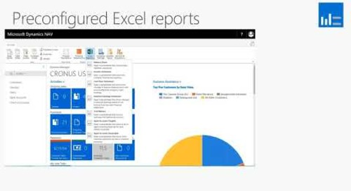 What's New In Microsoft Dynamics NAV 2018 - Preconfigured Excel Reports