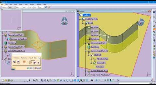 CATIA V5 Tip:  DMU Sectioning exported curve and its limitations in accuracy