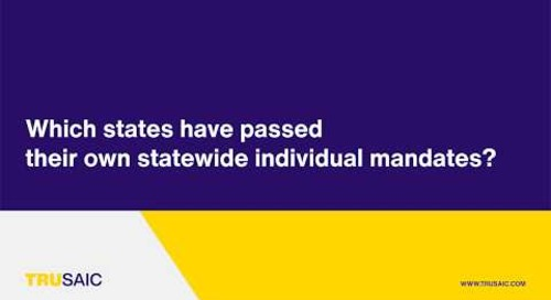 Which states have passed their own statewide individual mandates? - Trusaic Webinar
