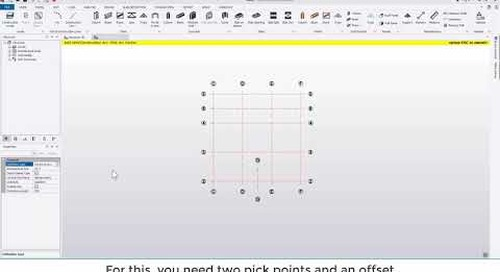 Tekla Structural Designer 2020 - Working with grids and importing DXFs
