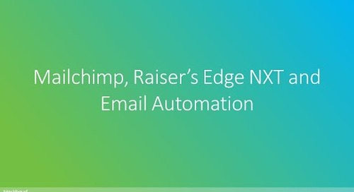 Mailchimp, Raiser's Edge NXT and Email Automation