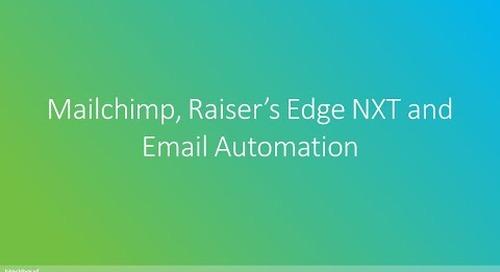 Zeidman Development | Mailchimp, Raiser's Edge NXT and Email Automation