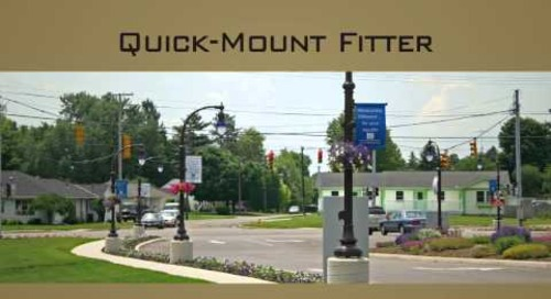 Quick-Mount Fitter for Outdoor Pendant Luminaires