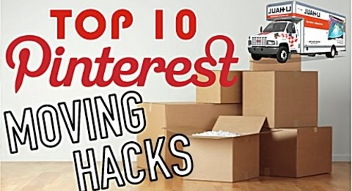 Top 10 Moving HACKS! // Pinterest Inspired!