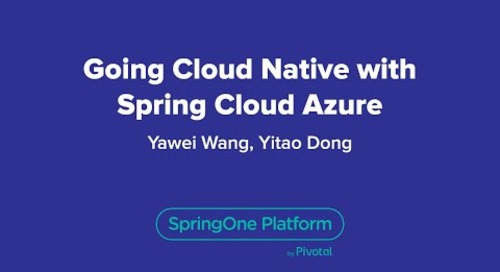 Going Cloud-Native with Spring Cloud Azure