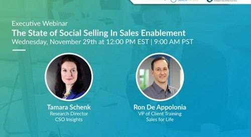 The State of Social Selling In Sales Enablement Ft. CSO Insights