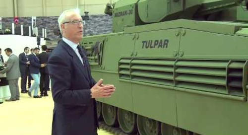 IDEF 2015: Tulpar Otokar armoured infantry fighting vehicle