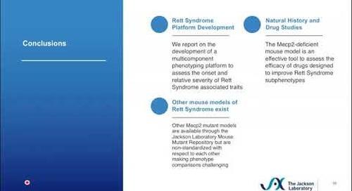 Mouse Models of Rett Syndrome