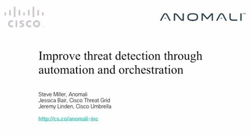 Improve threat detection through automation and orchestration