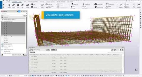 How to Create Sequenced Rebar Drawings in Tekla Structures