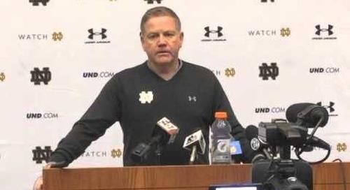 Notre Dame's Brian Kelly - 12/20/14 - LSU week