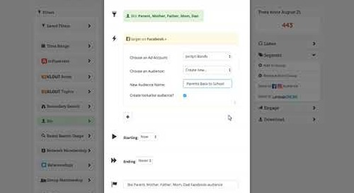 Blackbaud Attentive.ly: Set up a New and On-Going Rule to Send to Facebook Ads