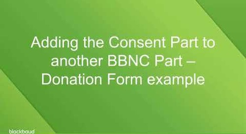 Managing Consent in Blackbaud Net Community