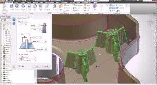 Autodesk Inventor: Plastic Part Commands - Boss