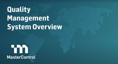 MasterControl Quality Management System (QMS) Demo