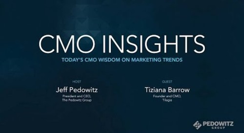 CMO Insights: Tiziana Barrow, Founder and CMO, Tilagia