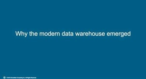 Webinar: Cloud Data Warehousing for Dummies
