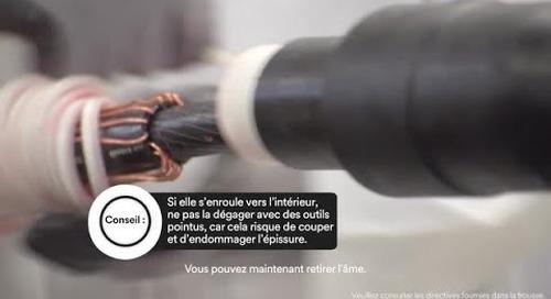 Épissure moyenne tension – connecteurs à boulon de cisaillement