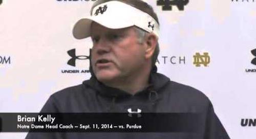 Notre Dame's Brian Kelly - 9/11/14 - vs. Purdue