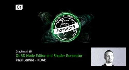 Provide a higher level of code with Qt 3D Node Editor and Shader Generator