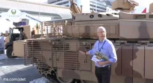IDEX 2015 Christopher Foss talks about the Nexter Leclerc Main Battle Tank