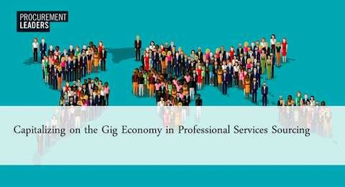 Capitalizing on the Gig Economy in Professional Services Sourcing