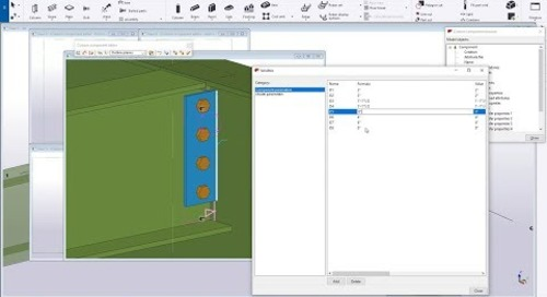 Custom Components  - Adding Bindings in Tekla Structures