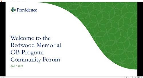 Community Forum for the Redwood Memorial Hospital OB Transition