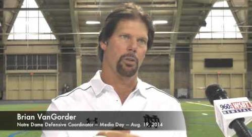 Notre Dame DC Brian VanGorder - Media Day 2014