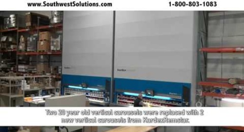 Megamat RS Vertical Carousels Storing Electrical Components