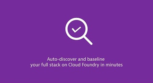 Dynatrace for Cloud Foundry